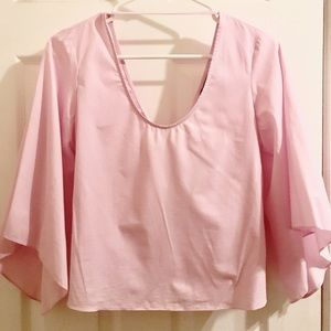 Zara bubblegum pink cotton top n XS.